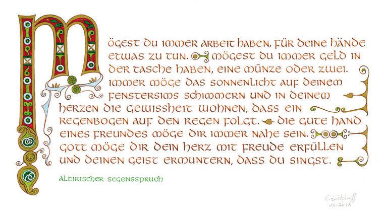 Atelier Eickhoff - Altirischer Segensspruch