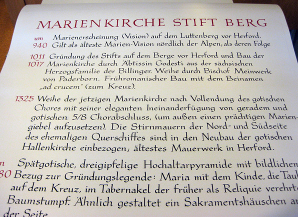 Atelier Eickhoff - Text für Marienkirche