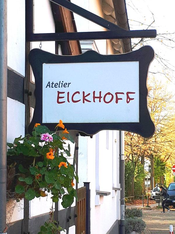 Atelier Eickhoff - Schild am Eingang