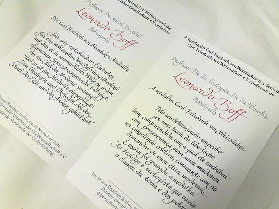 Atelier Eickhoff - Beispiel einer Urkunde