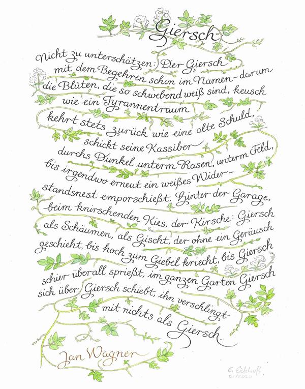 Atelier Eickhoff - Kalligraphie Giersch