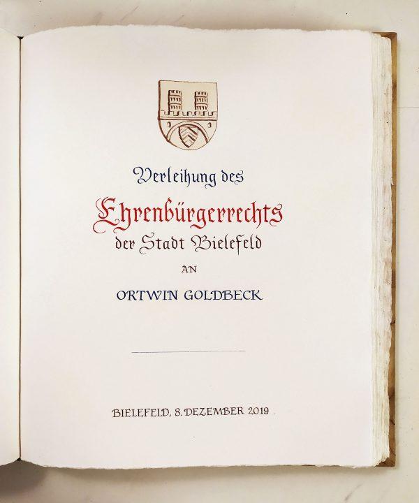 Atelier Elke Eickhoff - goldenes Buch Stadt Bielefeld