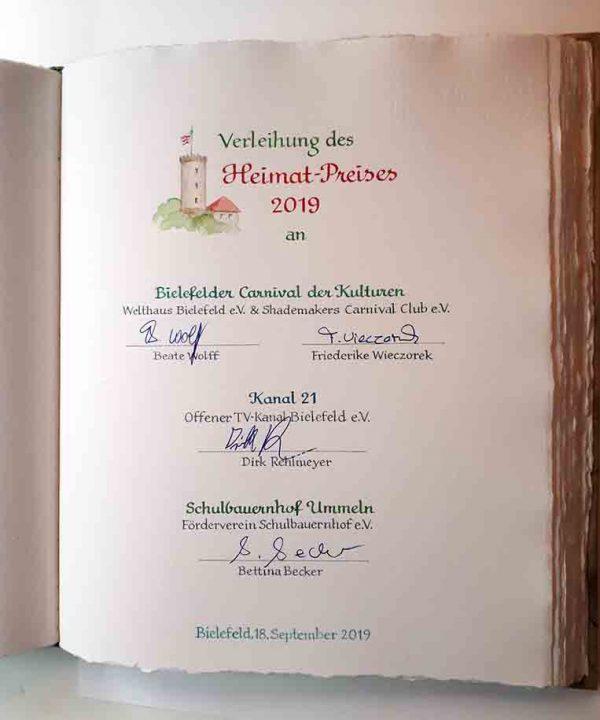 Atelier Eickhoff - Beispiel Heimatpreis